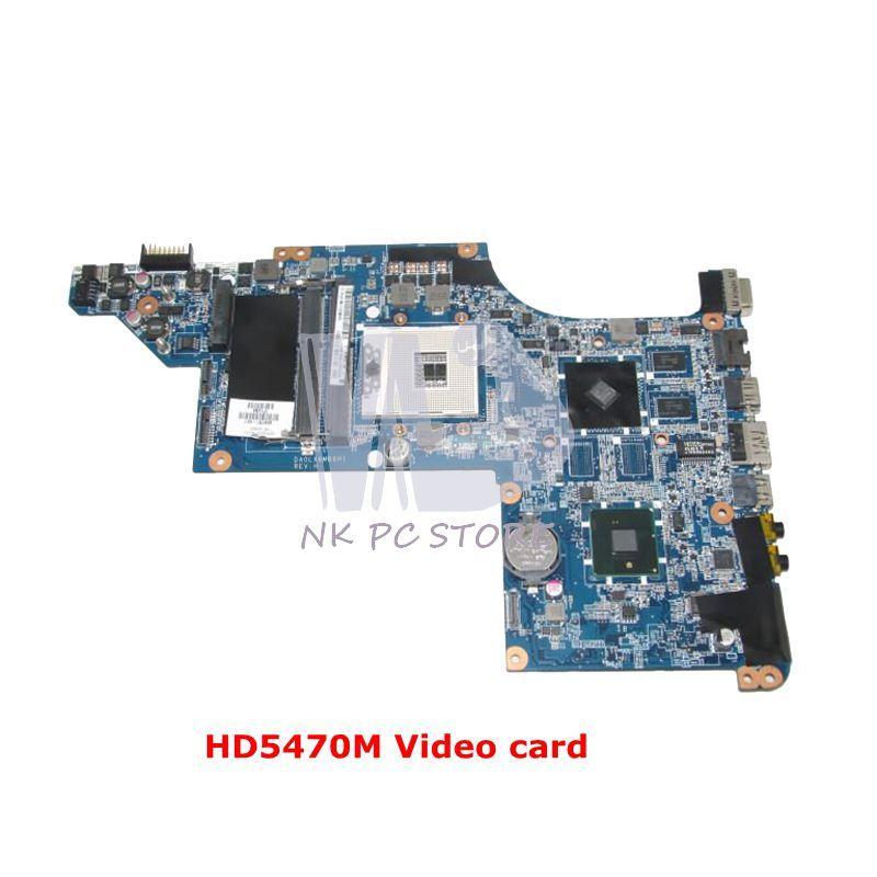 Nokotion 609787-001 Utama Papan untuk HP Pavilion DV7 DV7-4000 Motherboard Laptop DA0LX6MB6H1 HM55 DDR3 HD5470M Kartu Video