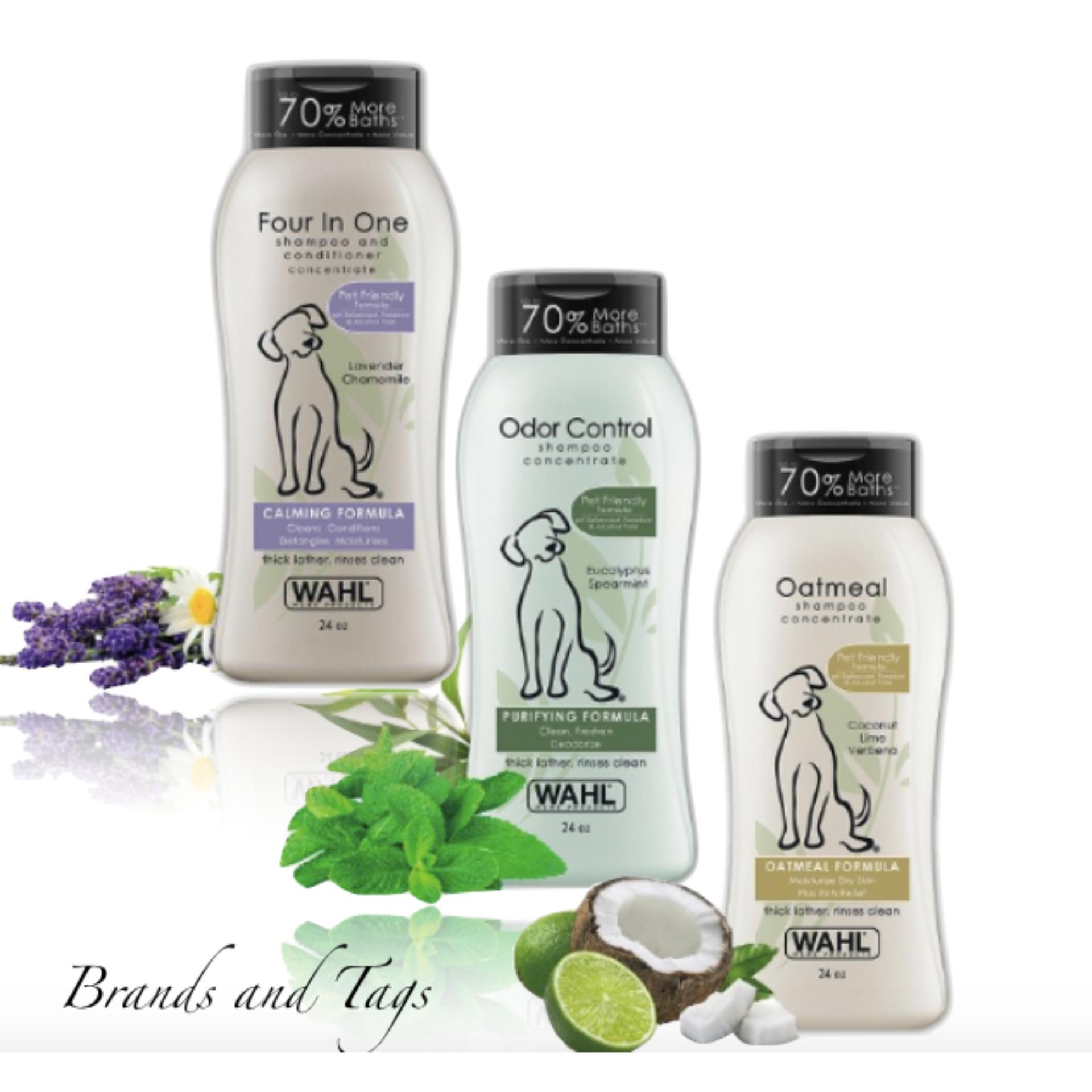 Wahl Oatmeal Formula Pet Shampoo Coconut Lime Verbena 24 Oz EUCALYPTUS SPEARMINT 24OZ &