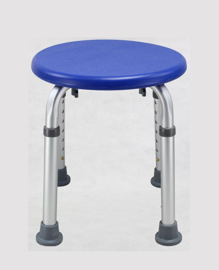 Aluminum Alloy Round Bath Shower Chair Bathroom Shower Room Shower Supplies for the Aged Old People and Pregnant Woman Safe Care