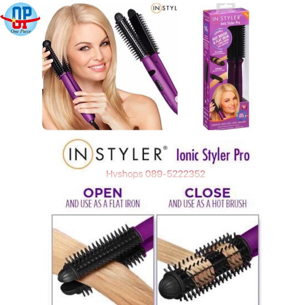 4 In 1 Lonic Styler Pro Ionic Hot Brush And Ceramic Flat Iron (purple) By One Piece.
