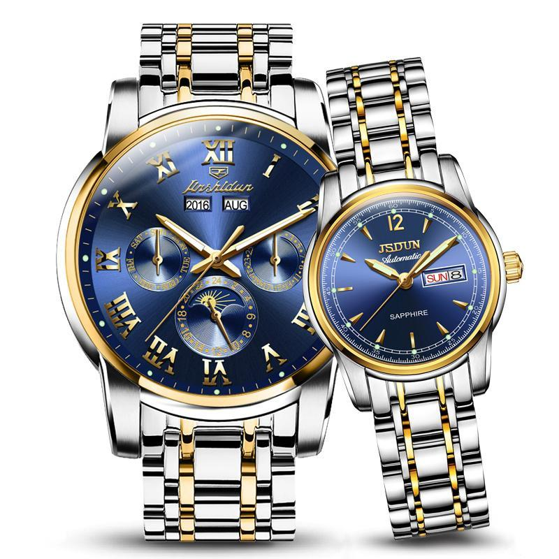 JSDUN Business Fully Automatic Analog Watch Couple Watch Malaysia