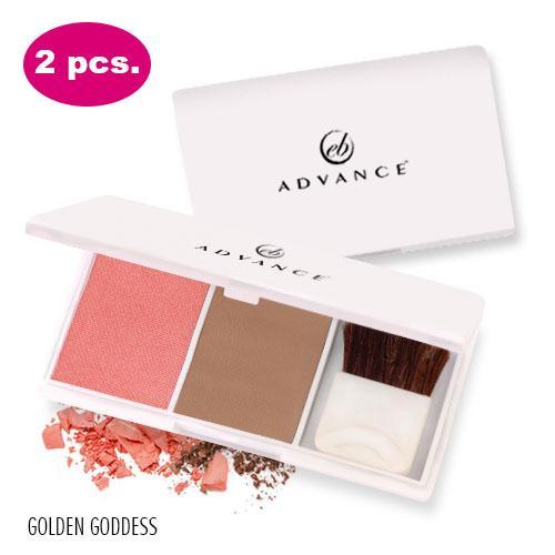 2 PCS Ever Bilena Advance Blush On Duo (Golden Goddess)