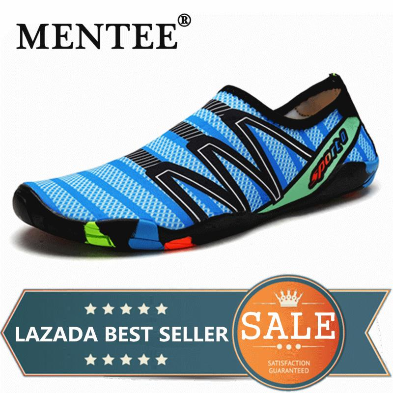 MENTEE Sepatu Pantai Ukuran 35-46 untuk Pria dan Wanita, Sepatu Datar Luar Ruangan