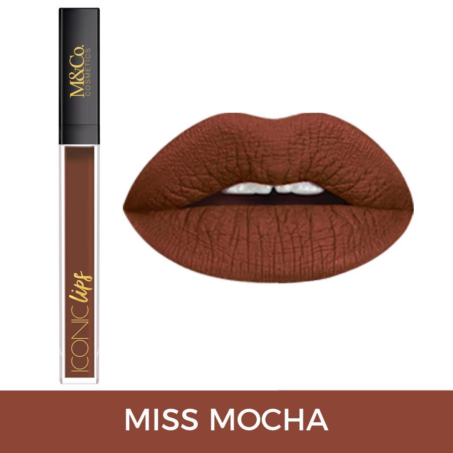 M&Co. Cosmetics Kissproof Iconic Lips BOLD MATTE Liquid Lipstick - Miss Mocha Philippines