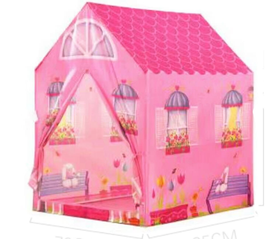 Girl House Fun Shop Play Tents Kids Play House Princess Castle for Indoor  and Outdoor Play (Pink)