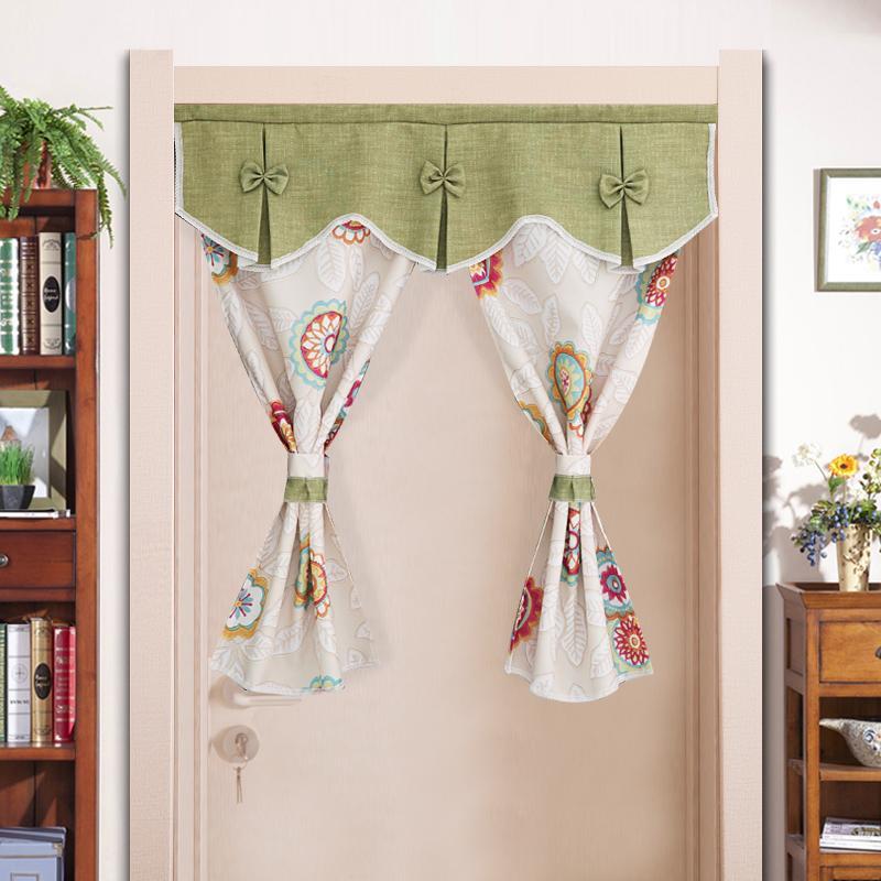 Cloth printed half panel curtain