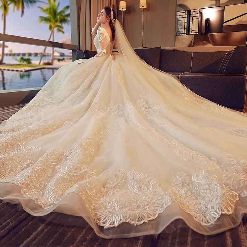 Cek Gaun Resepsi Gaun Pengantin Pengantin Wanita 2019 Model Baru