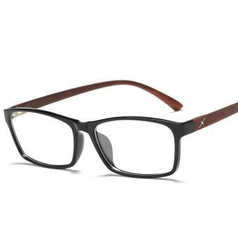 ... Pencarian Termurah Bingkai Kacamata wajah persegi bingkai kacamata  wanita Gaya Korea pasang Retro pria dengan kacamata 70ce0da8fc