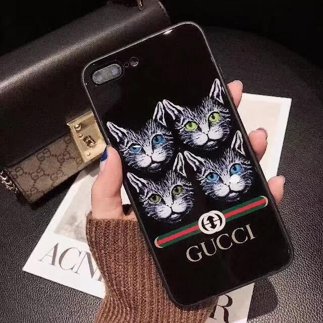 7bdcd929aac GUCCI Four Cat Design Back Case with Credit Card Holder For Iphone 6G 6S (