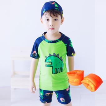 Bandingkan Toko Setelan Celana Renang Anak Laki-laki Dinosaurus (Putih (dengan topi) + renang lengan lengan) (Putih (dengan topi) + renang lengan lengan) ...