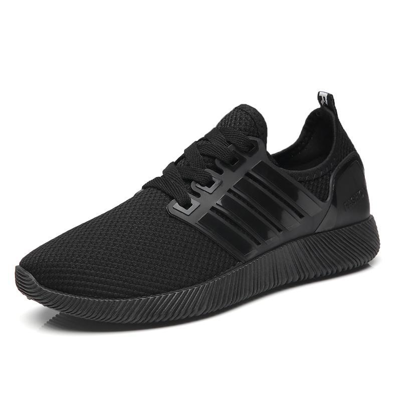 Caseennon Sepatu Jala Pria Bersirkulasi Udara Modis Versi Korea (Model Pria + Hitam Kecil Sepatu