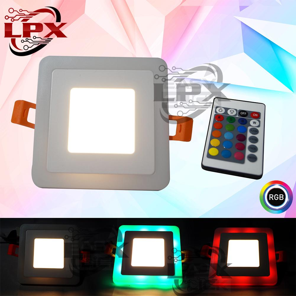 Double Light Led 5w Rgb Pinlight Modern Ceiling Down Square With Remote Warm White