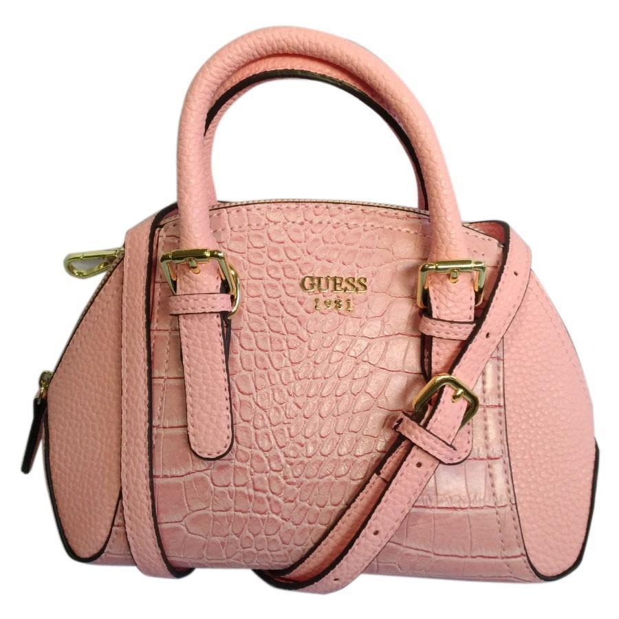 Guess S Trumpet Prin Handbag Pink