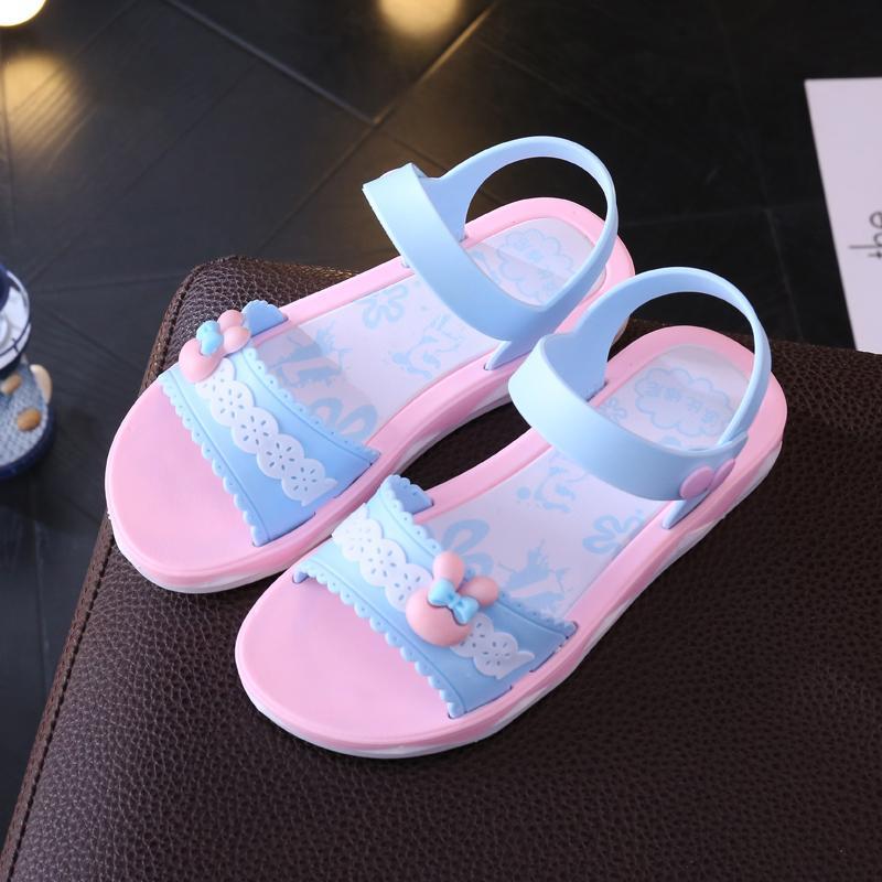 Anak Prempuan Sandal Summer 2019 Musim Panas Model Baru Sandal Pantai Anak-Anak Plastik Sandal Summer Anak Perempuan Kecil Sedang Sepatu Anak Gaya Korea Sepatu Putri By Koleksi Taobao.