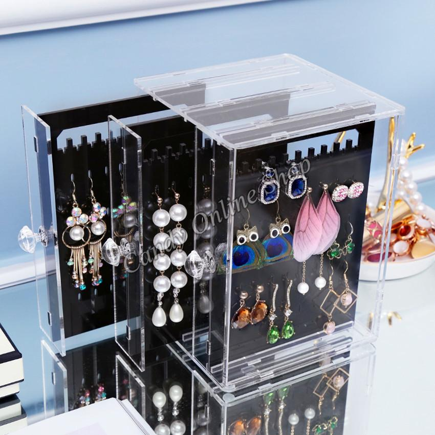 Candy Online Acrylic Jewelry Storage Box Earrings Display Stand Transpa Organizer