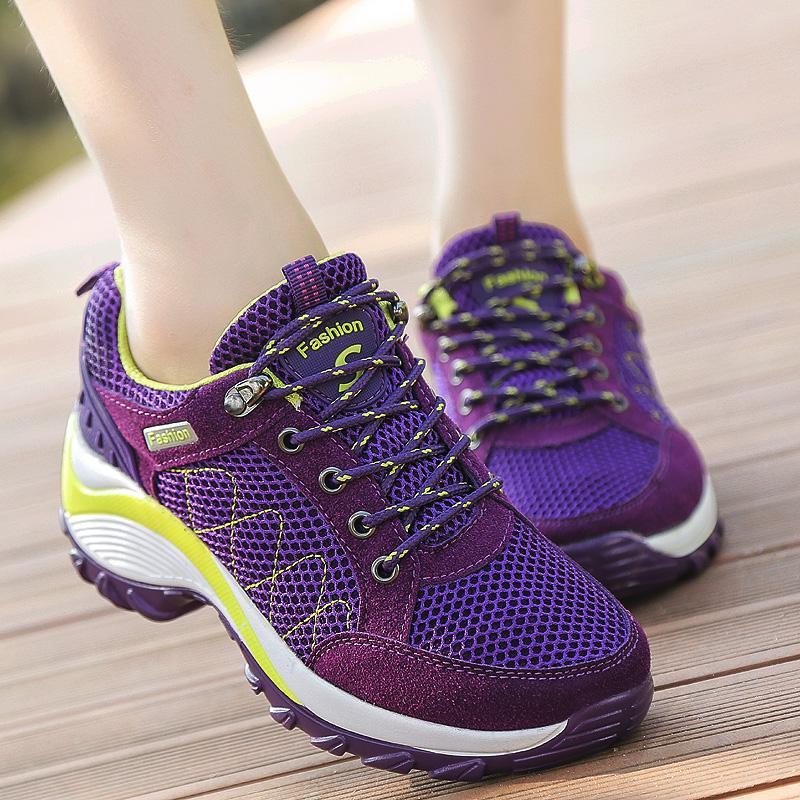Detail Gambar Mentee Wanita Tinggi Meningkatkan Sepatu Hiking Luar Sepatu Kets Panjat Terbaru