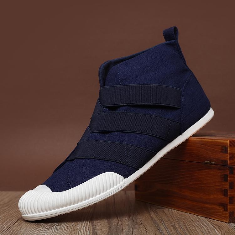 Model baru Musim semi dan musim panas fashion populer Inggris sepatu kasual pria Pergelangan Kaki Tinggi pria sepatu kanvas tutupan kaki model sepatu pria sepatu - 4