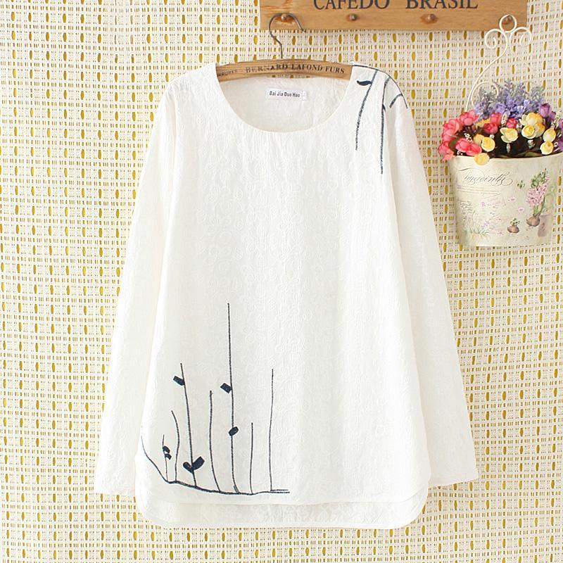 Ukuran besar baju wanita 200 pon MM pakaian musim panas Menutupi Perut baju  kaos model setengah 14da3d69bd