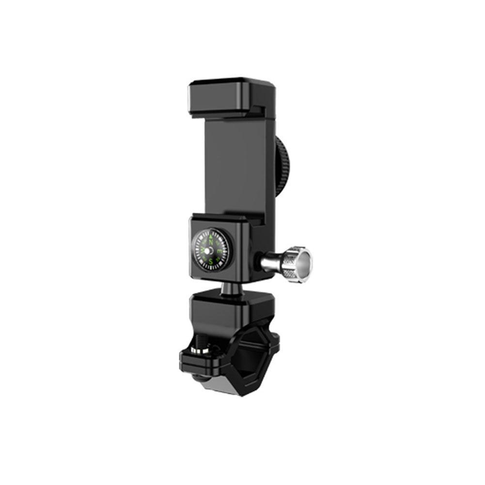 Qimiao Universal Multifunction Bike Compass Stand with LED Light Phone Bracket Bicycle Adjustable Phone Holder