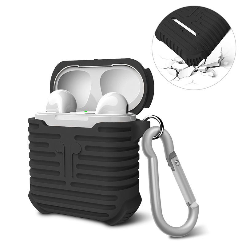 For Airpods Silicone Case Soft TPU Cover Ultra Thin Clear Protector Case Sleeve Pouch for Air