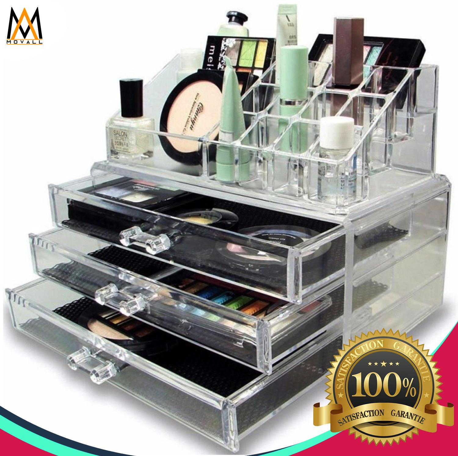 Acrylic Cosmetics Organizer 3 Drawers Makeup Set Philippines