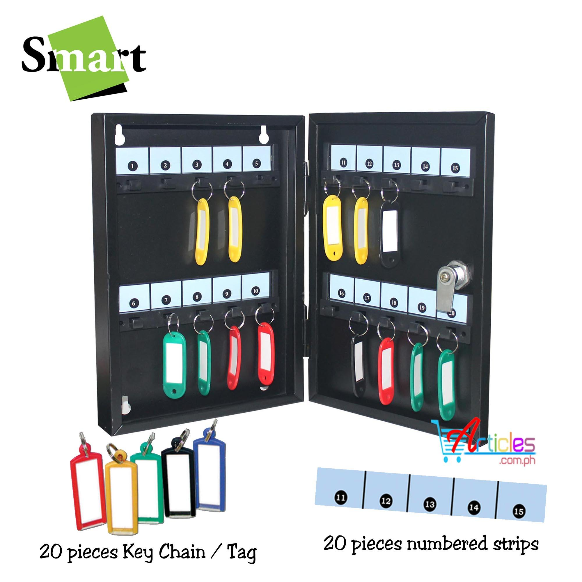 Smart Sk-20 Key Box 20 Keys Capacity With Key Chain And Numbers Strip Included By Trinity Marketing - Home.