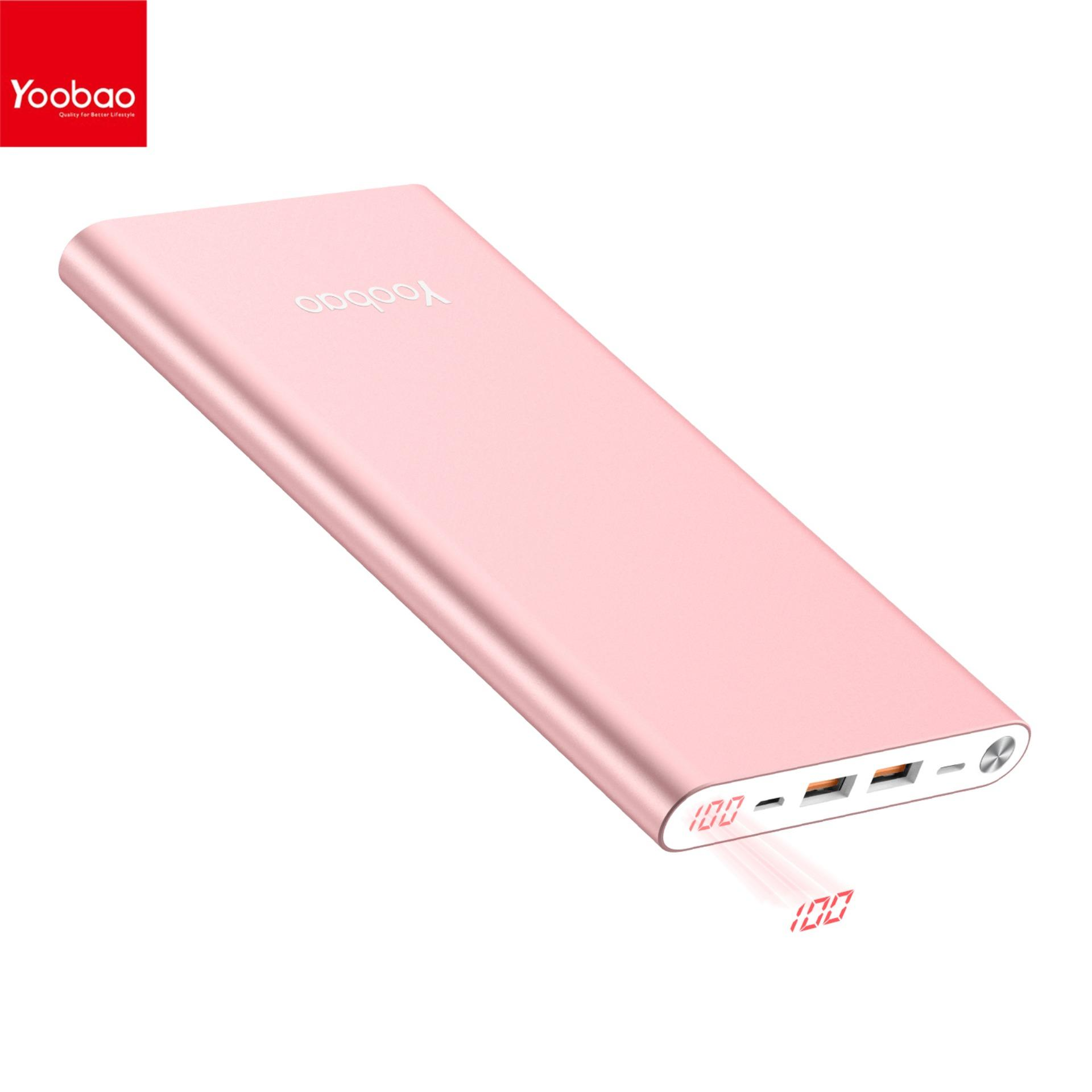 YOOBAO A2 Ultra Thin mAh Power Bank Rose Gold