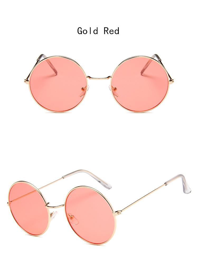 a372be430 Great-King New Women Men Round Sunglasses Steampunk Shades MultiColor  Gradient Mirror Lens Goggles Designer Vintage Sun Glasses ...