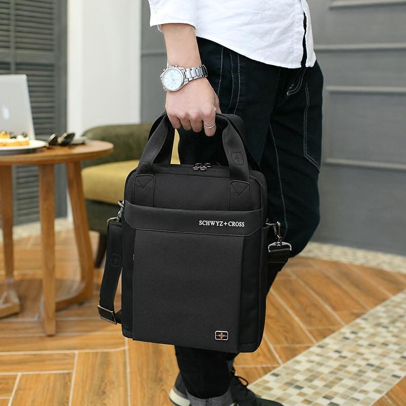 Swiss Sabre Daftar Bahu Ku Membungkus Pria Bisnis Tas Tas 12 Inch A4 Laptop Tas Bahu Tas 3 Dolar-Internasional