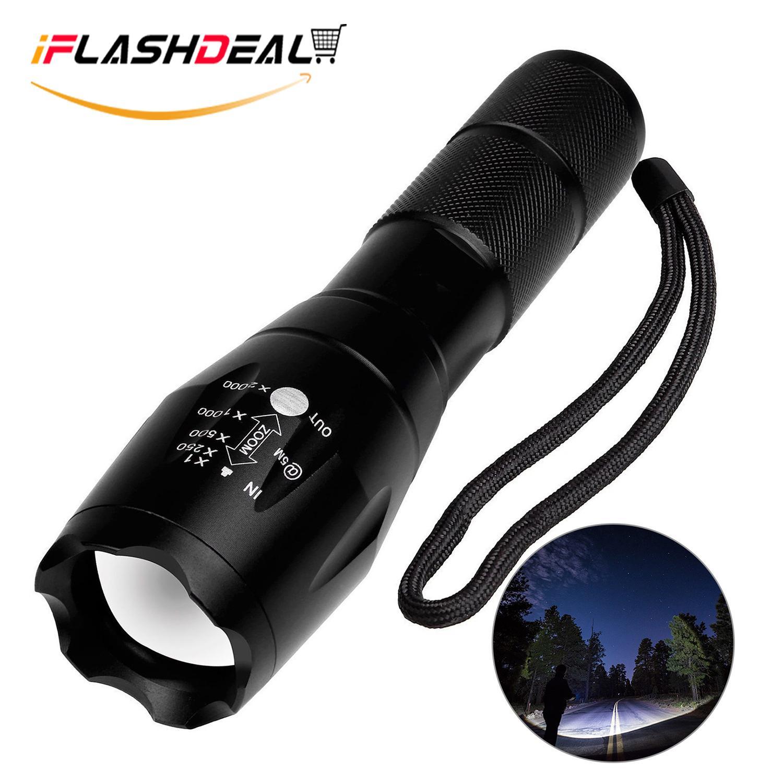 Portable Lighting Outdoor Portable Led Flashlight Battery Powered Uv Handheld Spot Light Lamp For Outdoor Camping Hiking Emergency