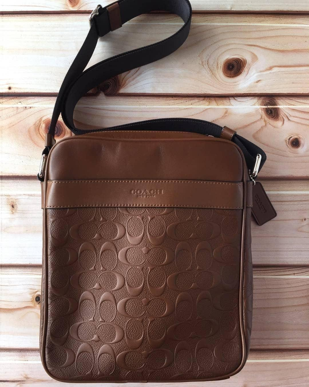 Sling Bags For Men Sale Cross Online Brands Coach Flight Bag Authentic Charles In Signature Leather Tan F24868