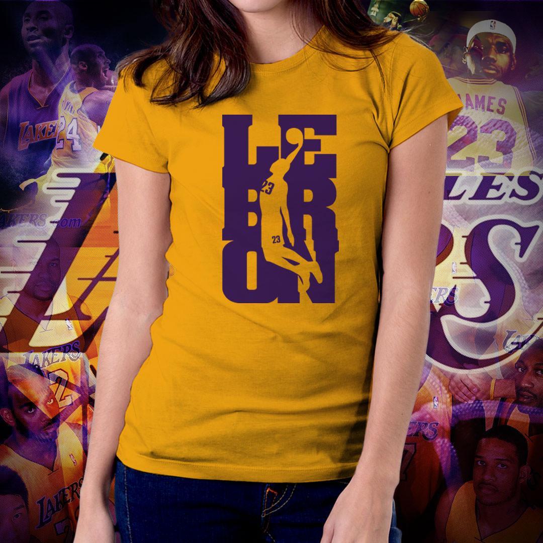 11e45b38d NBA Sports Basketball Team Los Angeles Lakers T-shirt for Women - LA Lakers  GOAT