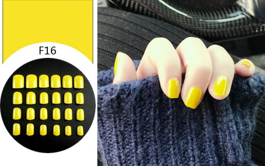 Yellow Faux Nails (Artificial  Nails) Philippines