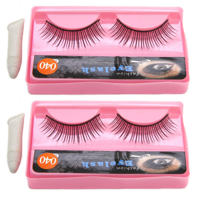 2 pairs BiYa False Eyelashes BI-008 (#040) with eyelash glue Philippines