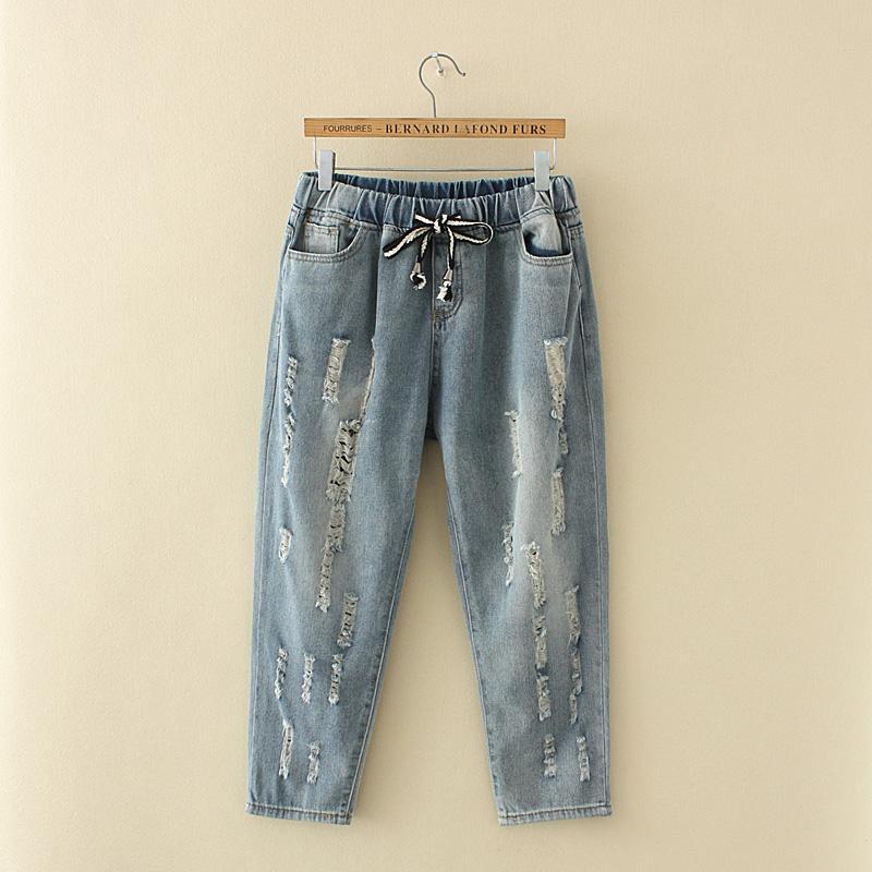 Plwiwtcde Ukuran Besar Baju Wanita Mm Kulot 200 Pon Adik Perempuan Gemuk Celana Jeans Penutup Paha Dengan Tebal Siswi Celana By Koleksi Taobao.