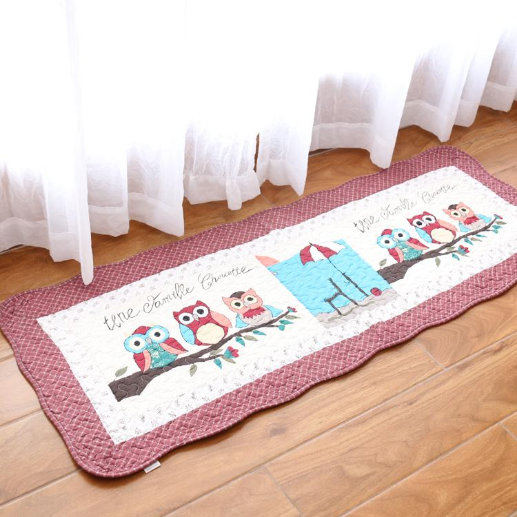Foreign Trade Export South Korea Pure Cotton Fabric Anti-slip Water Absorption Quilting Seam Ground Mat Cotton Window Cushion Doormat Bedside Pad Mat