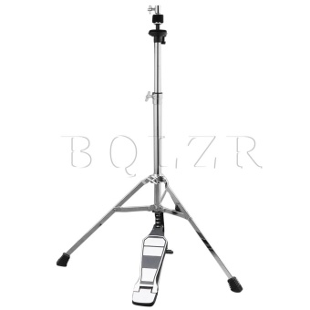100cm Height Hi-Hat Double Braced Cymbal Boom Stand Pedal Silver -intl