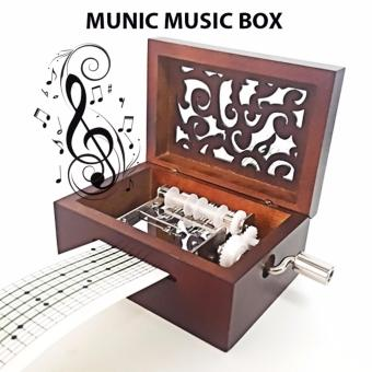 15 Note Munic Music Box with Music Sheet (Brown)