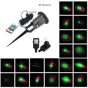 20 Renderings Laser Light Outdoor Waterproof IP65 IR Control RedGreen christmas laser projector lamp Bar DJ party stage light -intl