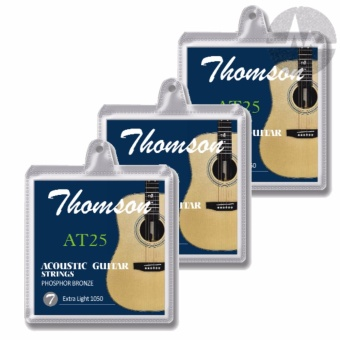 3 Packs Thomson Acoustic Guitar Strings Extra Light Package