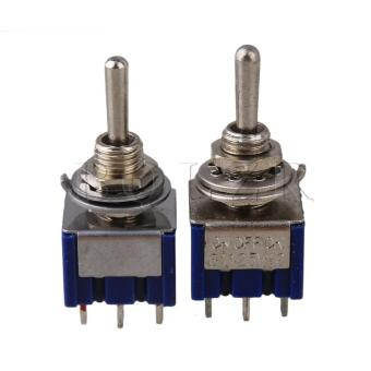 3 Way Toggle Switch on/off/on Set of 2 Blue