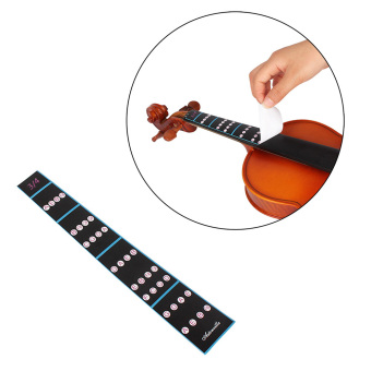 3/4 Violin Fiddle Finger Guide Fingerboard Sticker Label Intonation Chart Fretboard Marker for Practice Beginners - intl