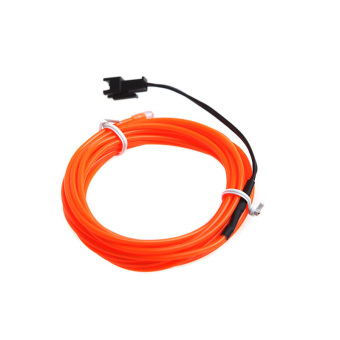 3M Orange Flexible Neon Light EL Wire Rope Tube with Controller - picture 2