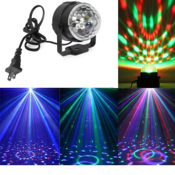 3W Mini RGB LED Crystal Magic Ball Karaoke Stage Lighting Effect Lamp Bulb Party Disco Club DJ Light for Xmas Party Wedding Show (US Plug) - intl