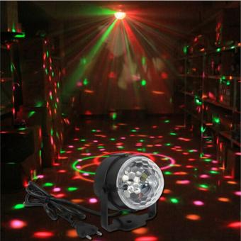 3W Mini RGB LED Crystal Magic Ball Karaoke Stage Lighting EffectLamp Bulb Party Disco Club DJ Light for Xmas Party Wedding Show (EUPlug) - intl