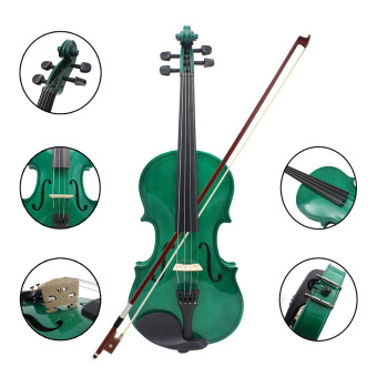 4/4 Violin Fiddle Basswood Steel String Arbor Bow Stringed Instrument (Intl) - picture 2