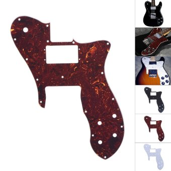 4Ply Electric Guitar Pickguard Pick Guard Scratch Plate for Fender '72 Telecaster Custom Replacement Part Tortoise Shell Red - intl