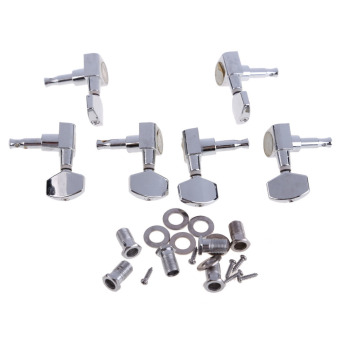 6 Chrome Guitar String Tuning Pegs Tuners Machine Heads AcousticElectric