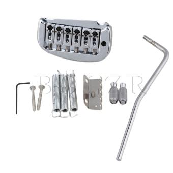 6-String Electric Guitar Double Locking Tremolo Bridge Silver -intl