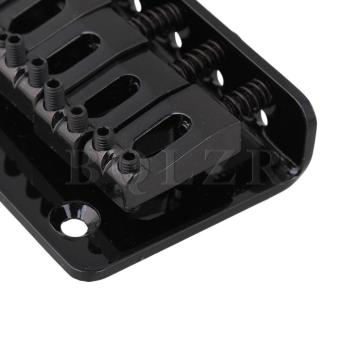 6 string Fixed Hard Tail Guitar Bridge Black - 4